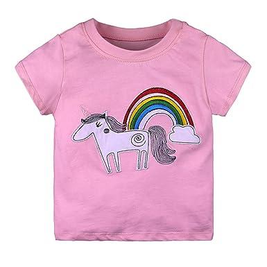 0939ec43c2644 Yying Bébé Enfants Fille Garçon Imprimer Chemises À Manches Courtes D Été  Tops T-