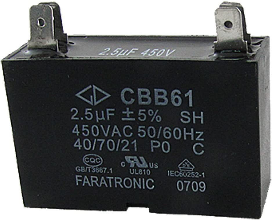 Deal MUX Ventilador de techo condensador cbb612.5uf 450Vac 2Alambre 50/60Hz