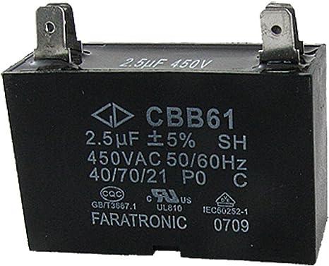 Deal MUX Ventilador de techo condensador cbb61 2.5uf 450 Vac 2 ...