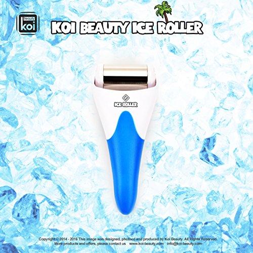 Koi Beauty Derma Haut Ice Walzenkühlung für Gesicht Körpermassage Augen Puffiness Behandlungen und Cold Packs Material Edelstahl 7 Farbe (blau)