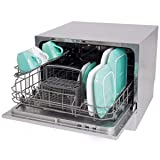 KCHEX>Countertop Dishwasher Silver Portable Compact Energy Star Apartment Dish Washer>apartment or office kitchen more user-friendly with this countertop dishwasher