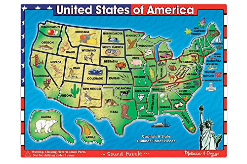 MY HISTORY TOYS USA Map Sound Puzzle