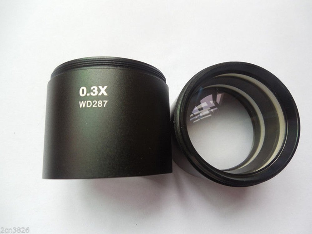 Srate 1 piece 0.3X Microscope Barlow lens pre-focus lens Objective lens M48X0.75mm
