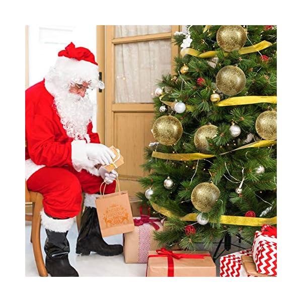 Palline di Natale Oro (Set da 2) - Palle di Natale Oro Grandi 15cm con Corda - Decorazioni Albero di Natale Oro in Plastica Infrangibile - Palline di Natale Dorate per Albero - Decorazioni Natalizie 7 spesavip