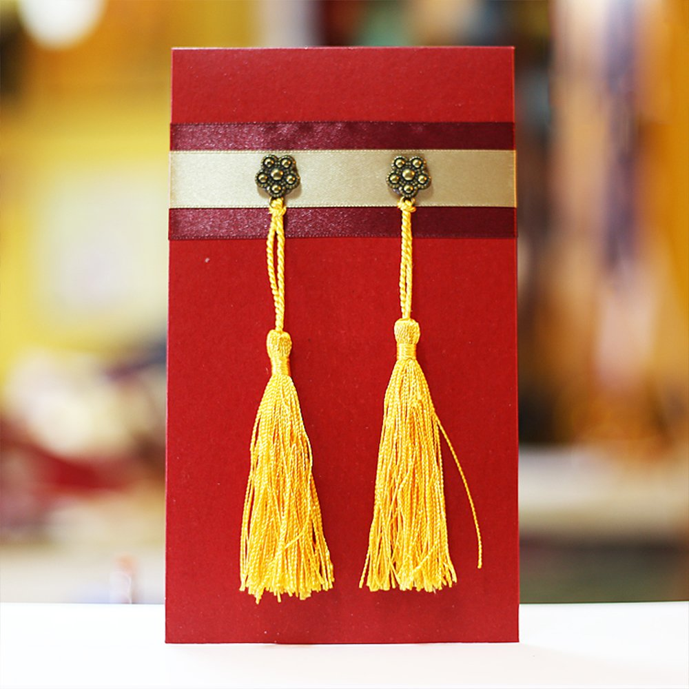 DIY Projects VAPKER 100 Pieces Red Tassels 13cm//5-Inch Silky Handmade Soft Tassels Floss Bookmark Tassels with 2-inch Cord Loop for Jewelry Making Bookmarks