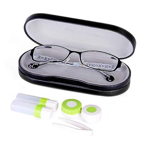 Estuche para lentes de contacto, 2 en 1, estuche para gafas ...