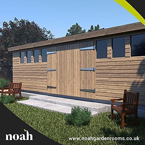 Noah Garden Rooms Don Marino - Cobertizo de madera para jardín, taller o
