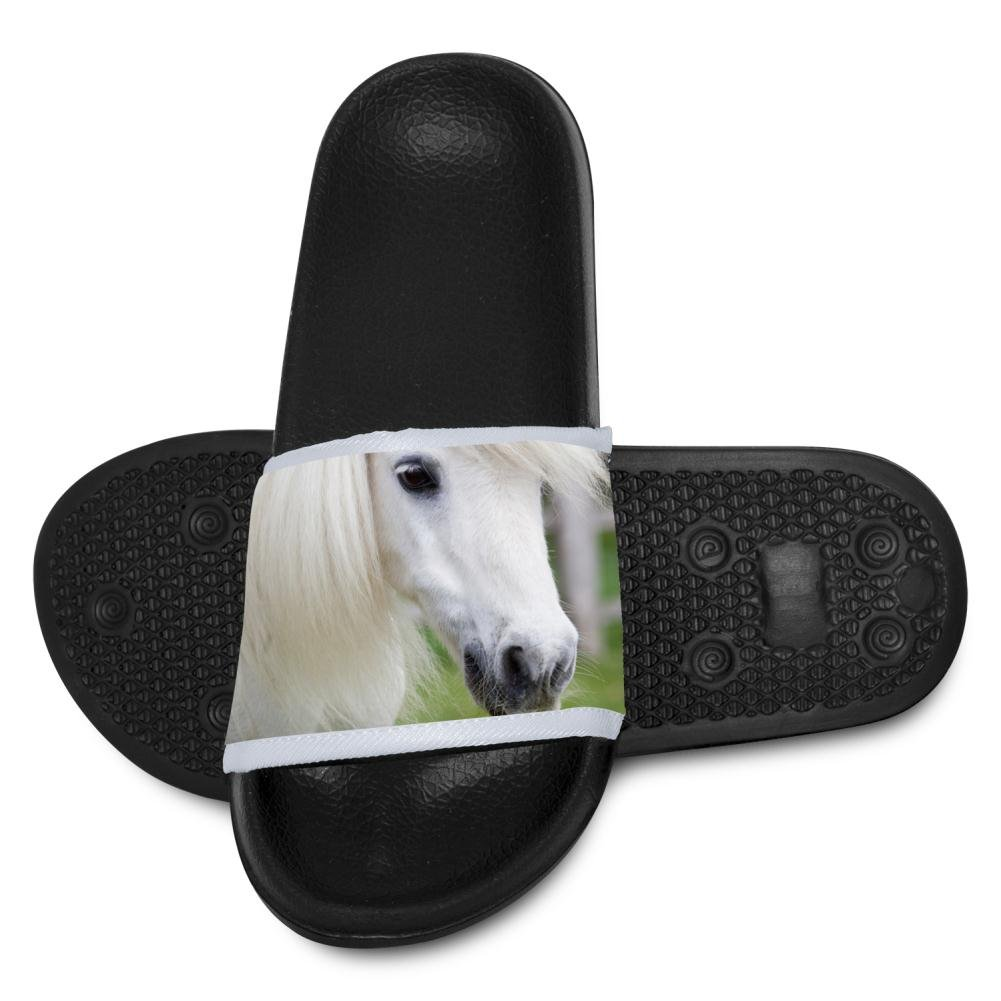 White Horse Slide Sandals Indoor /& Outdoor Slippers Shoes for kids boys and girls