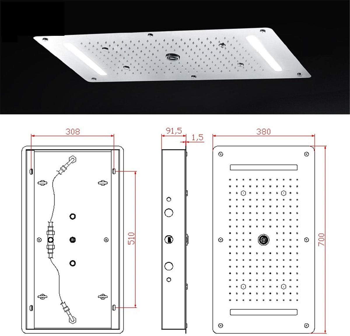 Duchas (cabezal de ducha)9función LED ducha luz lluvia ducha ...