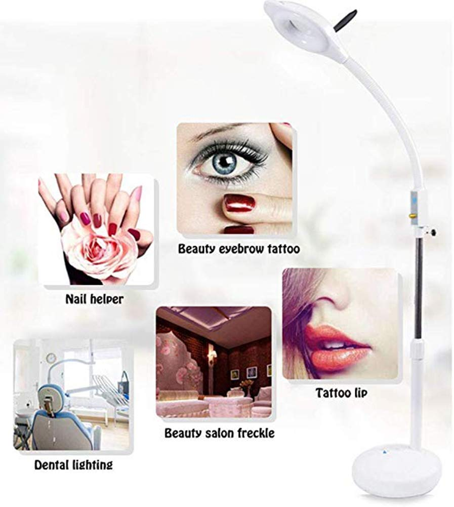Est/ética de Aumento Lupa con luz Brillante para Lectura AJUYG 16X L/ámpara Lupa LED tareas y Manualidades Profesional L/ámpara de pie