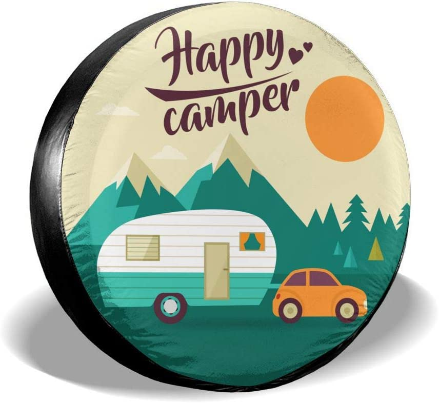 Trailer RV SUV Truck and Many Vehicle Camper Accessories Per Gull Tire Cover Adventure Awaits Waterproof Dust-Proof Universal Spare Wheel Tire Covers Fit for Jeep