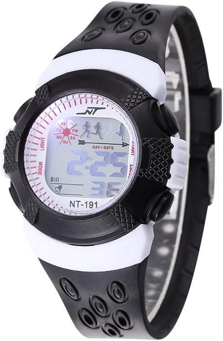 Digital Relojes para niños, niñas, – 30 M impermeable Deportes al aire libre analógico reloj con alarma/temporizador/luz LED, para niños adolescentes ...