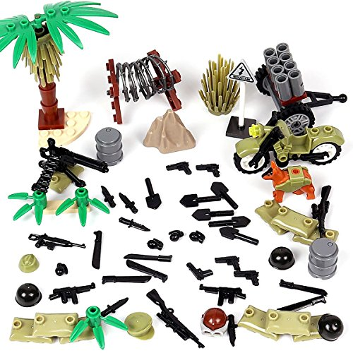 - Kolobok WW2 Toys Set - WWII US Army Men Weapons Pack - Guns and Accessories for United States Soldier Minifigures Custom Action Toy Building Blocks Military Toys 61 pcs War Set Major Brands Compatible