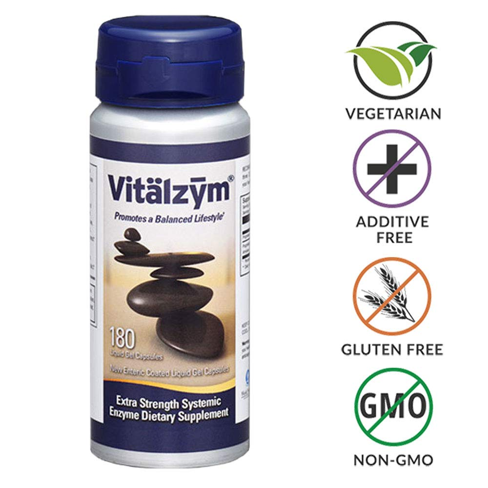 Amazon.com: World Nutrición Vitalzym softgels, 180 count ...