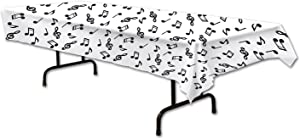 Musical Notes Tablecover Party Accessory (1 count) (1/Pkg)