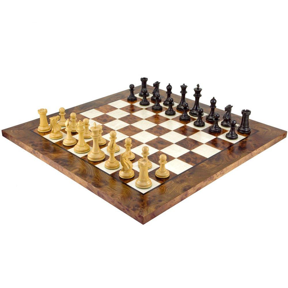 Die Alte Englisch Elite Ebenholz und Briar Luxus Schachspiel
