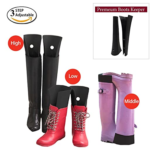 HARRA Premium Boot Shapers, 3step Adjustable Boots Shape Keeper Form Inserts  For Men, Women