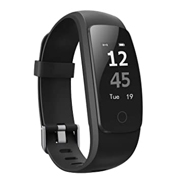 Pulsera Actividad,moreFit Slim Touch Pulsera Inteligente,Smart Bracelet Tracker con Monitor de Ritmo Cardíaco Activity Tracker,Relojes Inteligentes Ip67 ,Pulsera Fitness Tracker Gps,Pulsera Actividad Inteligente con Sleep Monitor para iPhone y Android Smartphones,Negro