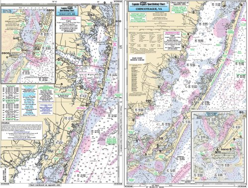 - Captain Segull's Boat Ocean City,Maryland to Chincoteague Inlet Nautical Chart