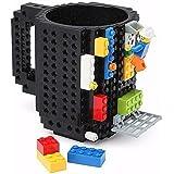 Happo Creative DIY Assembled BPA-Free Build On Brick Coffee Mug, 12 oz With Accessories