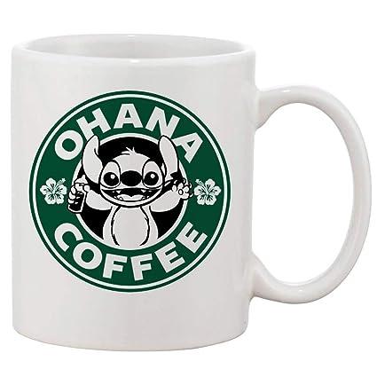 1ccea2fd5da Ohana Coffee Lilo and Stitch Mug Cup Two Sides 11 Oz Ceramics by Phone Case