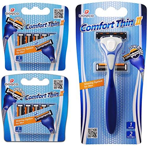 Dorco Comfort Thin II- Two Blade Razor Blade Shaving System (12 Pack...
