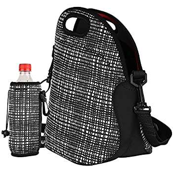 Amazon Com Insulated Lunch Tote Bag With Zipper
