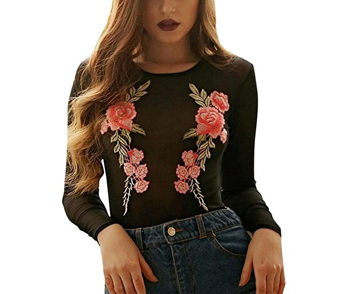 9ea0724ea Blusas de moda con aplicaciones de flores | Blusasmoda.org