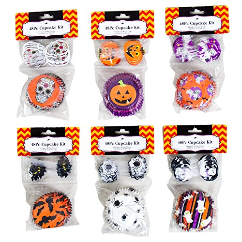 Halloween Cupcake Liners and Toppers - Makes 144