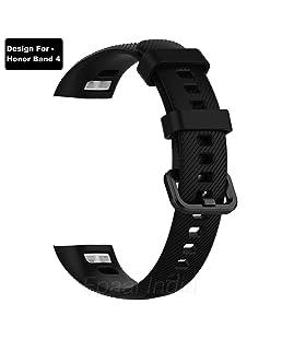 Epaal TPU Silicon Band Strap for Huawei Honor Band 4 / Honor Band 5 (Black)