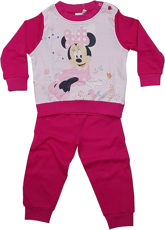 Pigiama Due Pezzi Minnie Vari Modelli in Caldo Cotone interlok per neonata Art.1019-2026