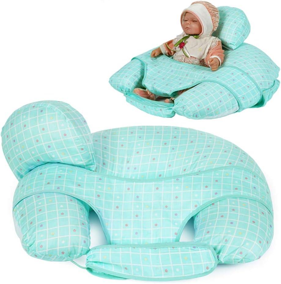 WANGXN Almohada de alimentación para bebés con Mini Almohada Gratuita y arnés de Lactancia Almohada de Lactancia,Blue: Amazon.es: Deportes y aire libre
