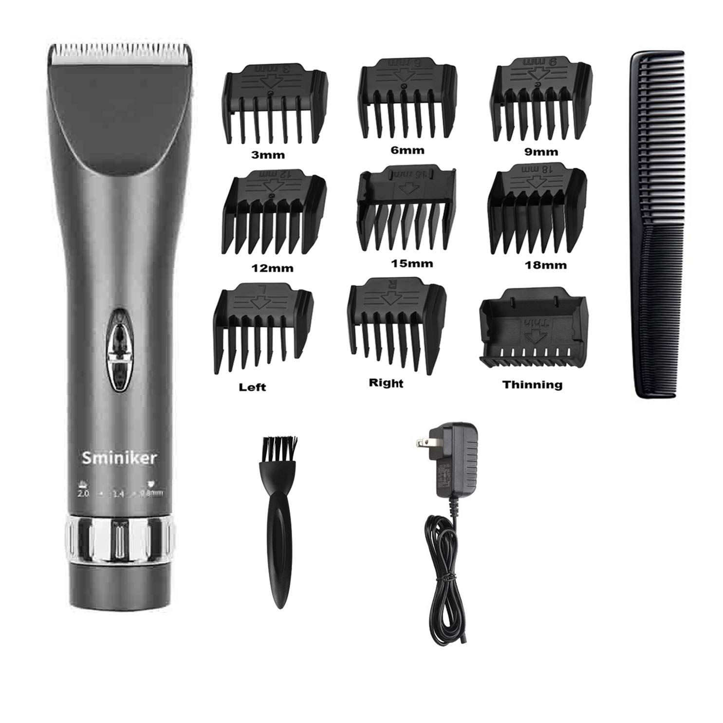 Sminiker Professional Cordless Rechargeable Hair Clippers