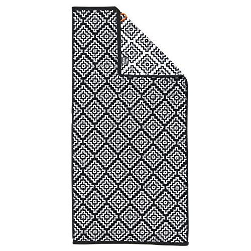 DONE Serviette de toilette Boho - 50x100 cm - Noir et blanc: Amazon ...