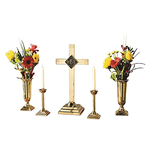 Amazon Religious Christian Five Piece Altar Set Material
