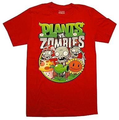 d94b8371aa7 Plants Vs. Zombies Group Mens Red T-Shirt