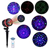 Lightess Laser Christmas Lights Outdoor RGB Laser Light Projector Christmas Decorations Outdoor Holiday Landscape Lighting with Wireless Remote for Wedding Garden Party, 8 Patterns