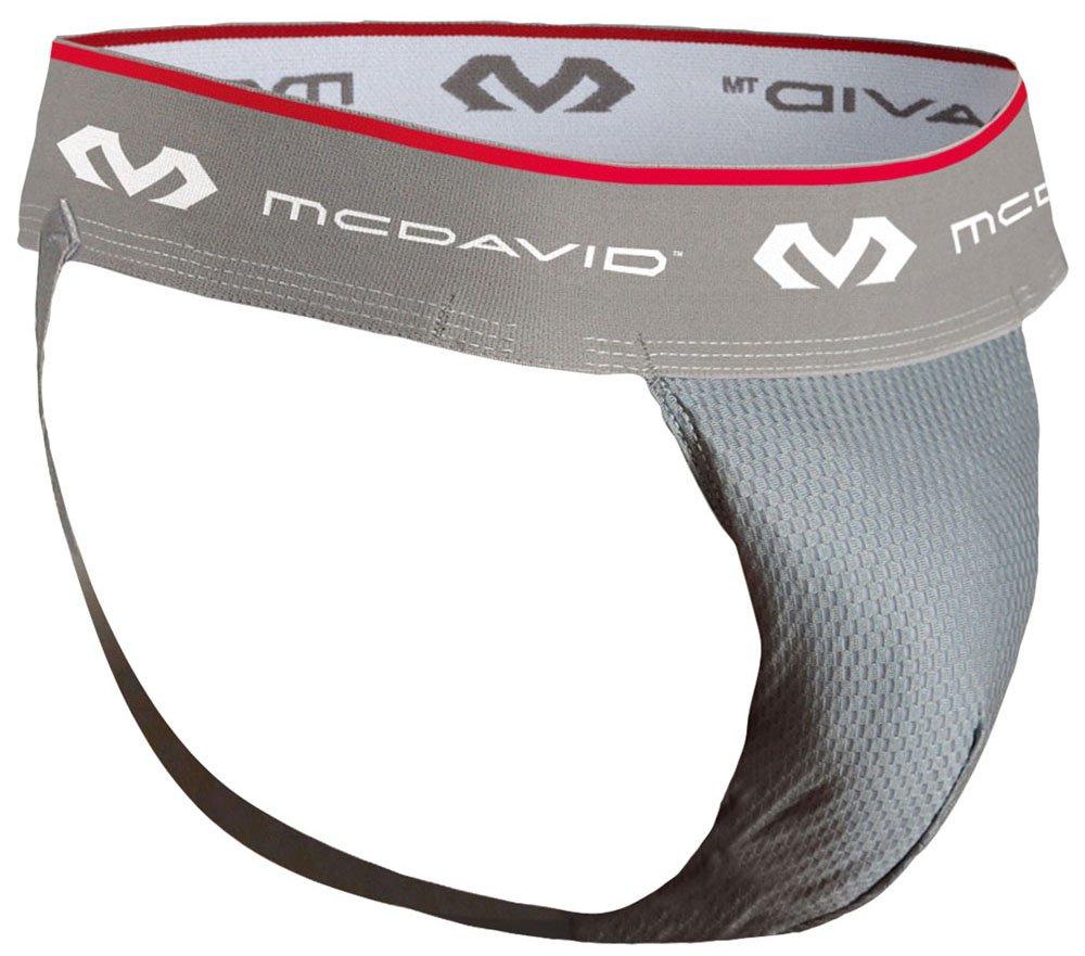McDavid 3300 HexMesh Athletic Supporter (Grey, Small)