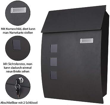 Cassette postales con fijaci/ón en pared caja de las letras cajas de exterior meditool Los BUZONES