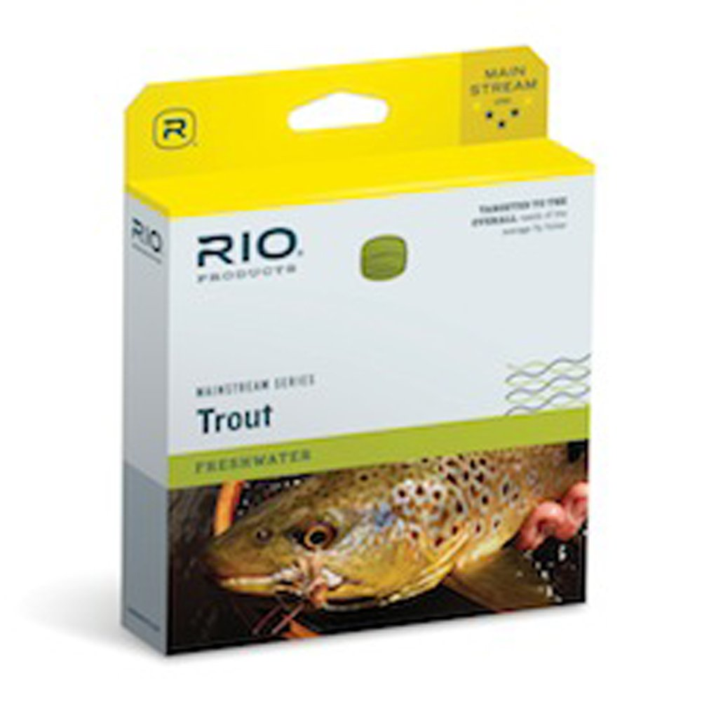 Rio Mainstream Sink Tip Size WF6F//S3 Brown//Lemon Green