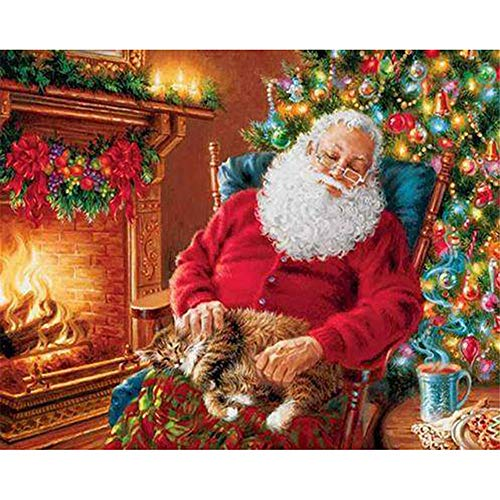 DIY Paint by Numbers for Adults DIY Oil Painting Kit for Kids Beginner - Merry Christmas Santa Claus,16X20