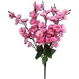MagiDeal 7-ramo Fiori Di Pesco Artificiale Di Seta Sposa Bouquet Per Decorazione Casa - Rosa