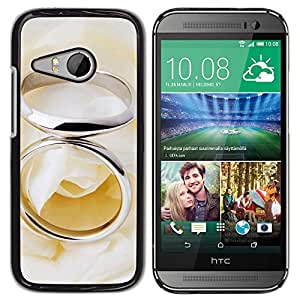 Paccase / SLIM PC / Aliminium Casa Carcasa Funda Case Cover - Couple Ring - HTC ONE MINI 2 / M8 MINI