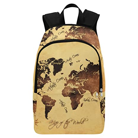 Amazon Com Interestprint World Map Casual Shoulders Backpack Travel