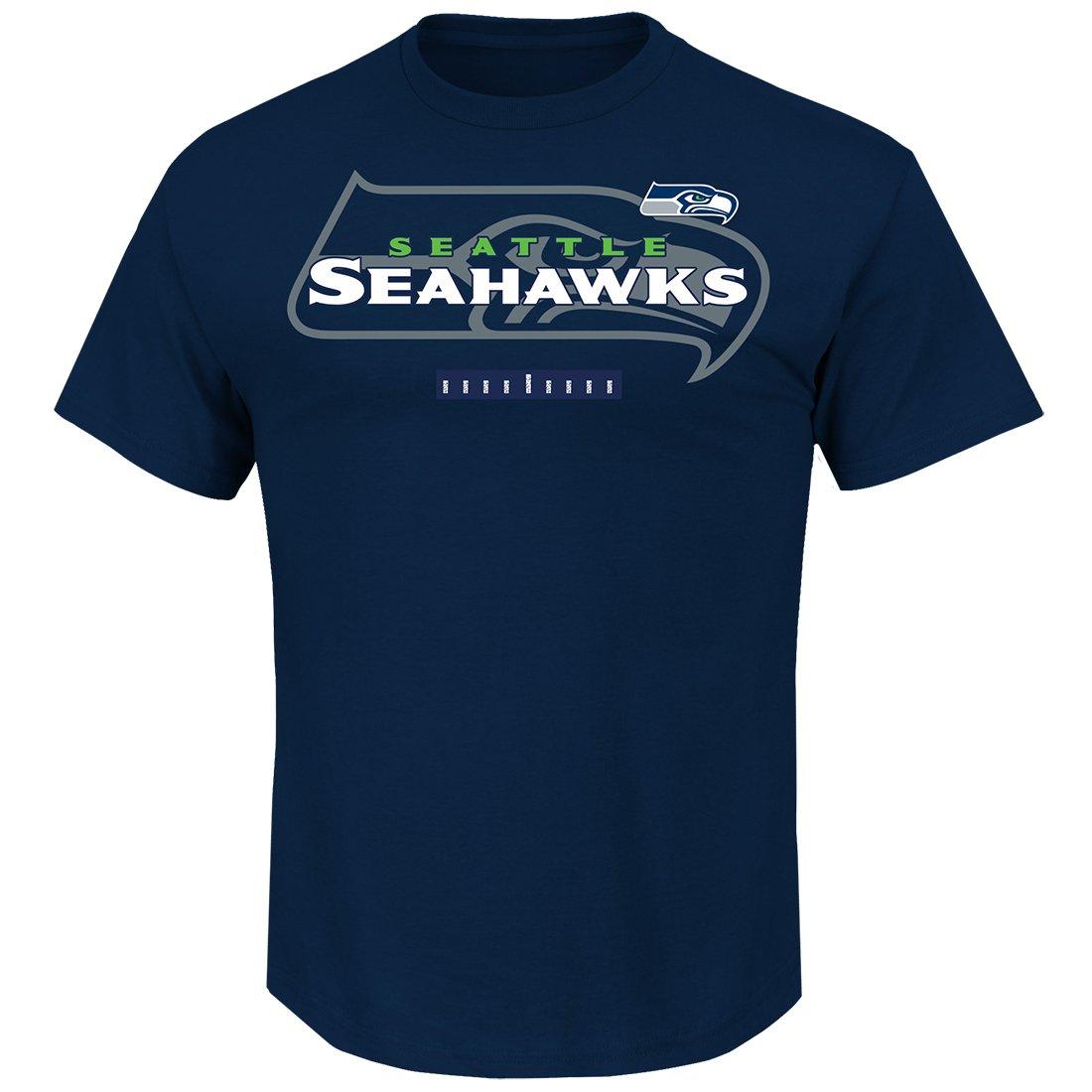 Seattle Seahawks Majestic NFL Of Great Value Men's Short Sleeve T-Shirt