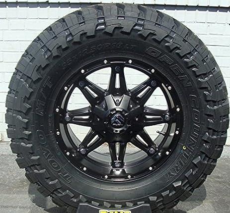 Amazon Com Wheel Tire Package 17x9 Fuel Hostage D531 Wheels Black