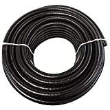 (1/2'' Dia. x 25 ft) - HydroMaxx Black Flexible PVC Pipe for Koi Ponds, Irrigation and Water Gardens
