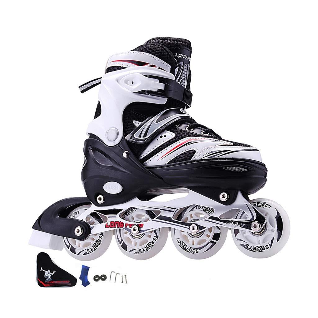 大人 フィットネスタイプ 発光 用ポータブル インラインスケート,初心者 屋内 サイズ調整可能 用ポータブル 向け Inline Skate , 男性女の子 贈り物 ローラースケート用 ジュニア (Color : B, Size : L-EU (39-42)) B L-EU (39-42)