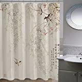 ZnzbztChina wind classical paintings in India ink lotus bathroom shower curtain wall curtains curtain dressing curtains, wide 1.8 high 1.8