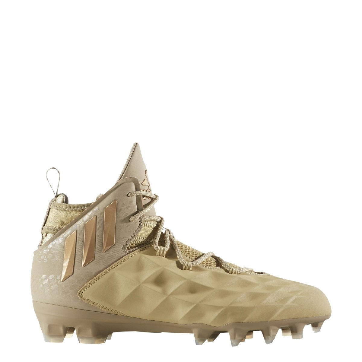 adidas Freak Lax Mid Cleat - Unisex Lacrosse 11.5 Sand/Copper Metallic by adidas